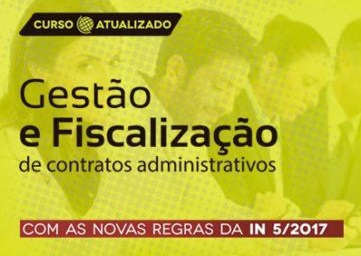 Curso Gestão e Fiscalização de Contratos Administrativos (Atualizado com a nova IN 05/2017)
